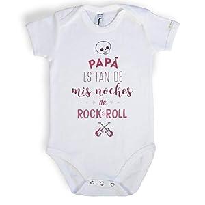 Body-Pap-es-fan-de-mis-noches-de-RockRoll-Ropa-divertida-para-beb-Coleccin-msica