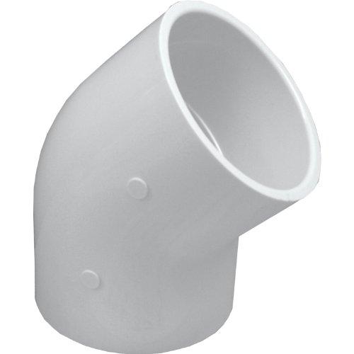 45 Weiße Ellenbogen (Genova Products 45° Ellenbogen aus PVC 3