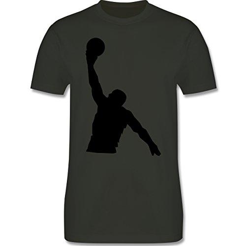 Basketball - Basketball - Herren Premium T-Shirt Army Grün