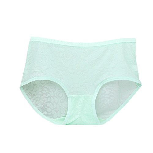 Meijunter 3Pcs Donne Seta Seamless Traspirante Underwear Vita Alta Caramella Colore Panties Verde