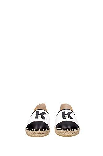 61KW4016WHITE Karl Lagerfeld Espadrilles Femme Tissu Blanc Blanc