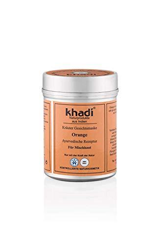 Balance Leichte Feuchtigkeitscreme (khadi Gesichtsmaske mit Orangen 50g I Ayurvedische Hautpflege für Mischhaut I Kräuter Feuchtigkeitspflege aus Orangenöl und Orangenschalen I Naturkosmetik 100% pflanzlich)