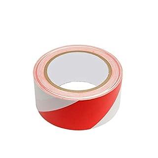 33 Meter Absperrband Kennband rot/weiß Warnband selbstklebend