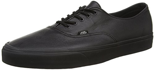 Vans U Authentic Decon Leather, Unisex Erwachsene Kurzschaft Stiefel, Schwarz - Schwarz (Black/Black) - Größe: 49 EU (Größe Herren 15 Schuhe-vans)