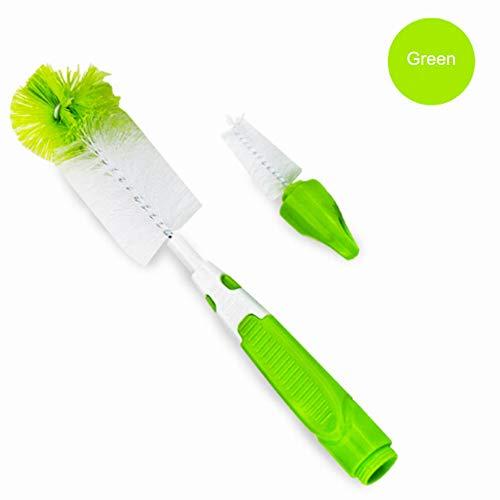2 in 1 baby bottiglia pennello pulizia set,ergonomico antiscivolo grip/BPA libero|Pulitore della spazzola della bottiglia