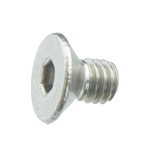 100 Senkkopfschrauben Edelstahl M4 x 6 mm – ISO 10642 / DIN 7991 – Senkschrauben mit Innensechskant und Vollgewinde – Werkstoff A2 (VA / V2A)