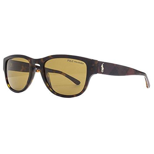 Polo ralph lauren ph4086, occhiali da sole uomo, marrone (dark havana 551983), unica (taglia produttore: one size)