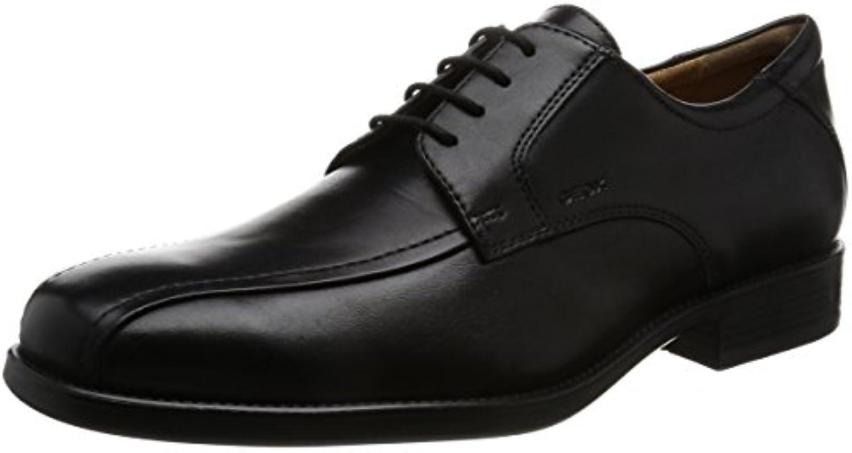 Geox U Federico W, Zapatos Oxford de Cuero con Cordones para Hombre -