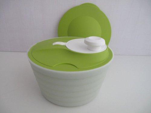 TUPPERWARE Salatschleuder Salat-Karussell 4,5L Grün Eeiß D128 Salatkarussell