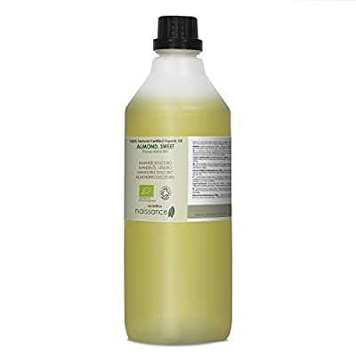 Naissance Sweet Almond Oil 1 Litre Certified Organic 100% Pure from Naissance