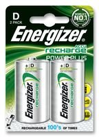 Dynamic Power ENERGIZER - HR20D - BATTERY, NI-MH D 2500MAH 2 PACK - Pack of 2