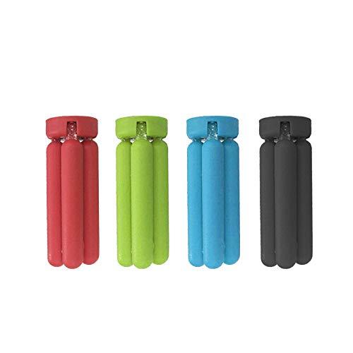 labels2friends safe2friends Silikon-Topf-Untersetzer (4 Stück) | schützt Küchentische vor heißen Töpfen + Pfannen | auch als Handyhalter | in 4 rot, grün, blau und schwarz