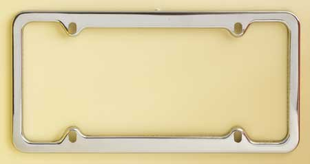 Stainless Steel Frame -Stainless Steel Metal Numberplate Holder for American License Plates (12x6