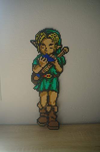 Link mit seinem ocarina • Pixel/art • Hama Beads • Pixel Art • Perler Beads • Fuse beads • Handmade • The Legend of Zelda