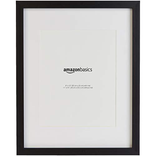 AmazonBasics - Fotorahmen mit Matte - 28 x 36 cm, mattiert zu 20 x 25 cm, Schwarz, 2 Stück