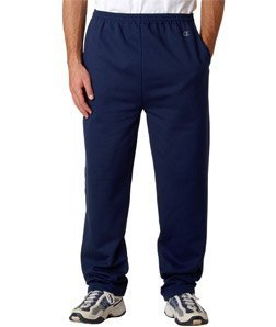 9 oz. Double Dry Eco� Open-Bottom Fleece Pant with Pockets NAVY M