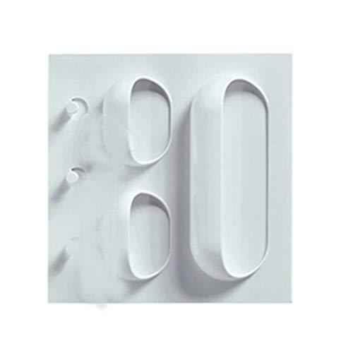 Jinzuke Kunststoffkleber Wandbehang Rack-Durchschlags-Free Sticky-Speicher-Organisator für Badezimmer Küche 3 Löcher