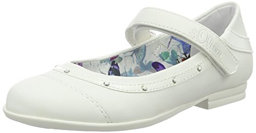 s.Oliver 42801, Mary Jane Bambina, Bianco (White 100), 33 EU