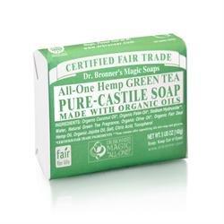 (Pack of 6) Dr Bronner - Org Green Tea Soap Bar 140 g