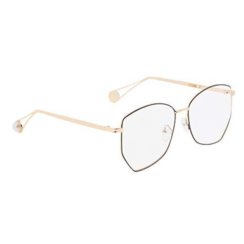 Sharplace Polarisiert Sonnenbrille Verspiegelt Brille Pilotenbrille für Herren Damen - Schwarzes Gold