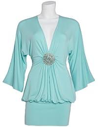 Apart Fashion-Long T-shirt, Couleur Aqua