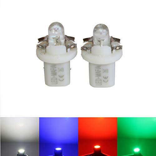 LED-Mafia Lot de 2 éclairages de comptoirs Ronds B85d Blanc/Bleu/Rouge