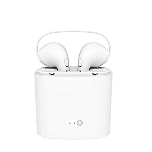 Divud Ecom I7s Dual Bluetooth Wireless Earphone with Support Hands Free Call, Noise Cancellation, Sweat Proof Bluetooth V4.2 Compatible with All Smartphone, Tablets, Laptop, Audio Player