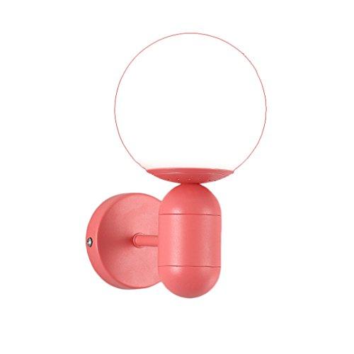 Appliques Nordique Post-Moderne Minimaliste E27 Mur Lampe Restaurant Étude Salon Chambre Éclairage Décoratif UOMUN (Couleur : Red)