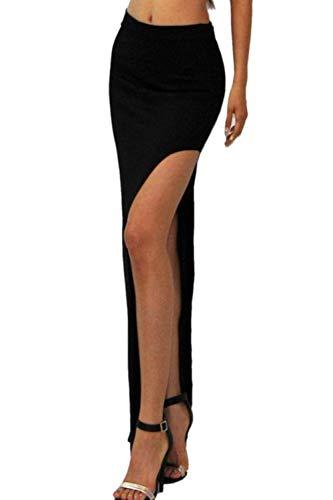 fb5a6867cbf Dazosue Femmes Jupe Maxi Longue Fendue Élastique Haute d occasion Livré  partout en France
