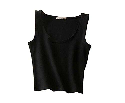 Black Temptation Damen Oberteile Super Soft Camisole Bare Midriff Weste Bare Midriff Top