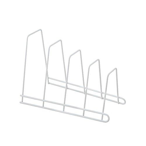 Metaltex Oscar - Soporte 4 tapaderas, banderas o tablas, color blanco