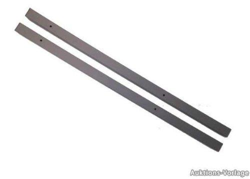 1 Paar Torpfosten / Schwarz / 60 x 60 mm / Zum Einbetonieren