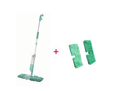 3 in 1 Spray-Mopp mit Wendefunktion - Sprüh-Mopp (Wende-Mopp) mit Ersatz Wischtücher 2er Set