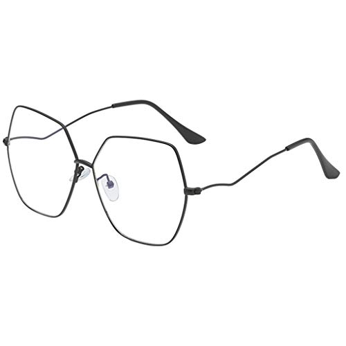 Flyshow Mode Frauen unregelmäßig geformte Sonnenbrille Gläser -Metallische Sonnenbrille Männer und Frauen Persönlichkeit Brillengestell Trendy Punk Wind Brillengestell Retro Brille