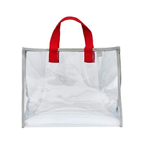 1c200fc3cb83 PETUNIA Women Transparent Handbag Portable Travelling Storage Bag with  Hanging Buckle - Red