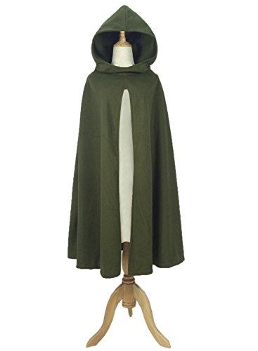 Futurino Damen Winter/Herbst Gotisch Lose Umhang mit Kapuze Mantel Poncho Kap Outwear Strickpulli Longstrickjacke - 3