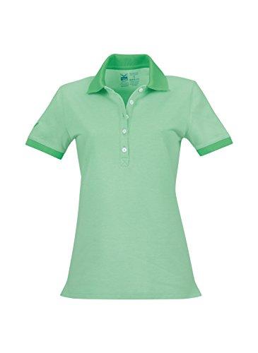 Trigema Damen Poloshirt waldmeister-melange