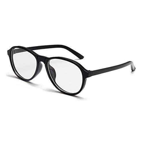 Chudanba Mode Runde Sungalsses Trendy Plastic Shades Damen Herren Unisex Eyewear,Schwarzer Rahmen Weiß
