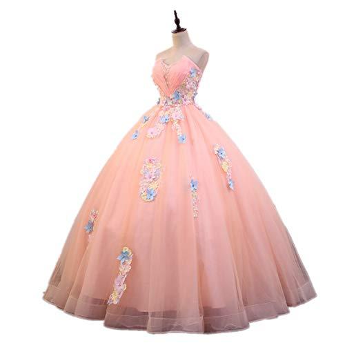 QAQBDBCKL Blume Stickerei Anime Lange Medieval Kleid Renaissance Kostüm Viktorianischen Gothic LOL/Marie Antoinette Belle Ball