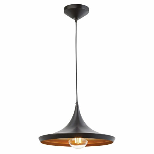 Citra AC110V E26/E27 Single Head Vintage Black Metal Tawa Hanging Light Pendant Ceiling Light Lamp Industrial Retro Country Style Dining Hall Restaurant Bar Cafe Lighting Use (No bulbs provided)