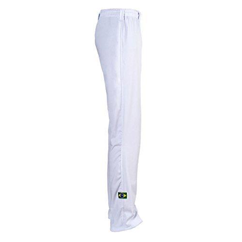 Brazil capoeira bambini unisex abada arti marziali elasticizzati pantaloni 6–14anni, bianco, 5-6 anni