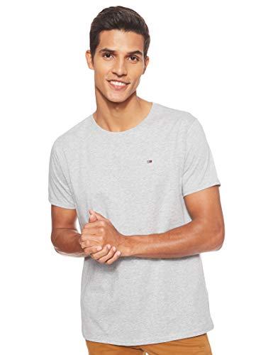 Tommy Jeans Herren Original Jersey  Kurzarm  T-Shirt Grau (Lt Grey Htr 038) Medium