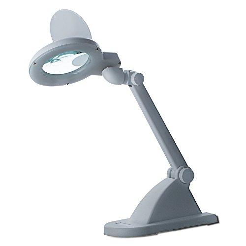 LED-Tischlupenleuchte 15 LEDs 3 Dioptrien + 8 Diop Lupenleuchte Arbeitsleuchte Lupenlampe Lupe...