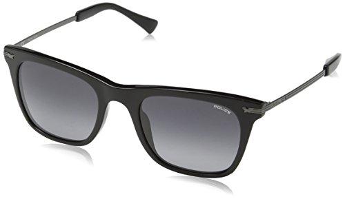 Police Herren Sonnenbrille SPL140, Grau (Shiny Black), Einheitsgröße