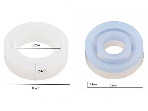 YNuth 1 Set Stampo in Silicone Anello e Bracciale Trasparente Accessori Decorazione Gioielli Regalo