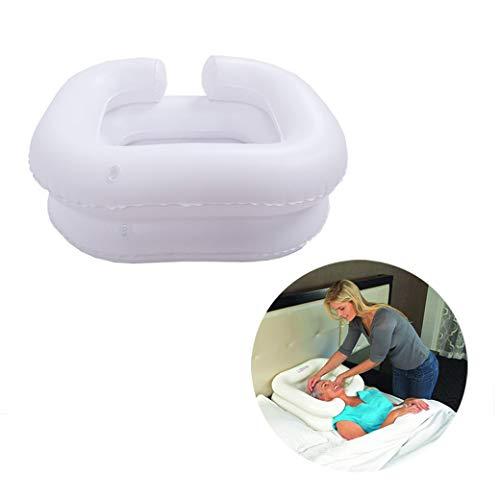 Aufblasbares Haarwaschbecken, Haarwäsche im Bett, Aufblasbares Shampoo-Kissen, Shampoo-Pad für verletzte, ältere Menschen, Bettgeflochten, Bettlägerig, Behinderte, Leichtes Haar, Hilfsmittel