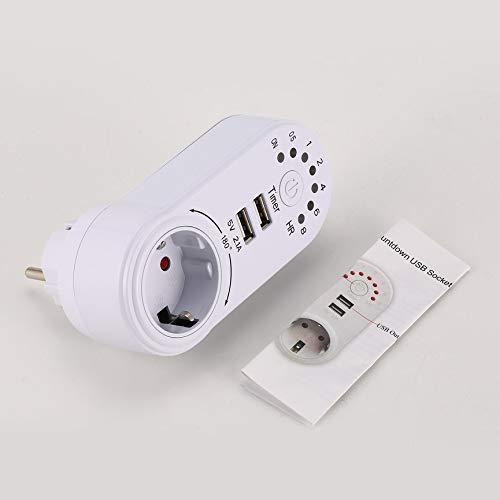 Peanutaso 220V Temporizador Mini USB 2.1A Adaptador