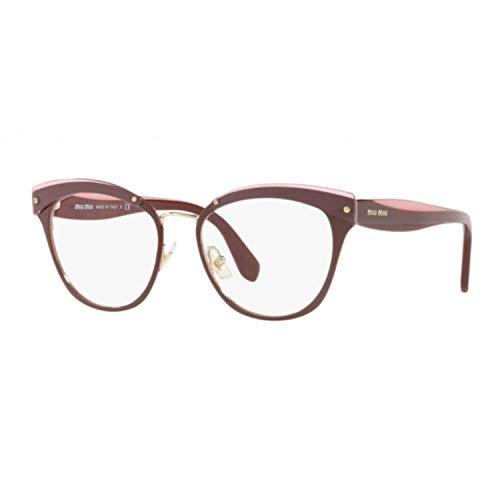 Miu Miu Brillen VMU54Q BURGUNDY Damenbrillen