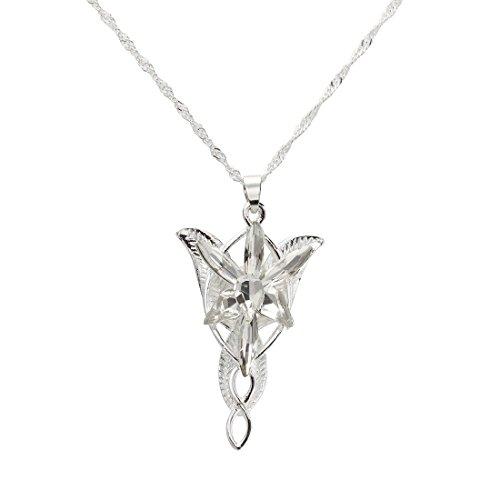 SODIAL(R) Mini Colgante Estrella de la Tarde colgante de Plata