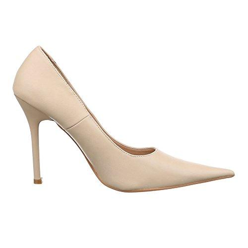 Ital-Design - Scarpe con plateau Donna Crema